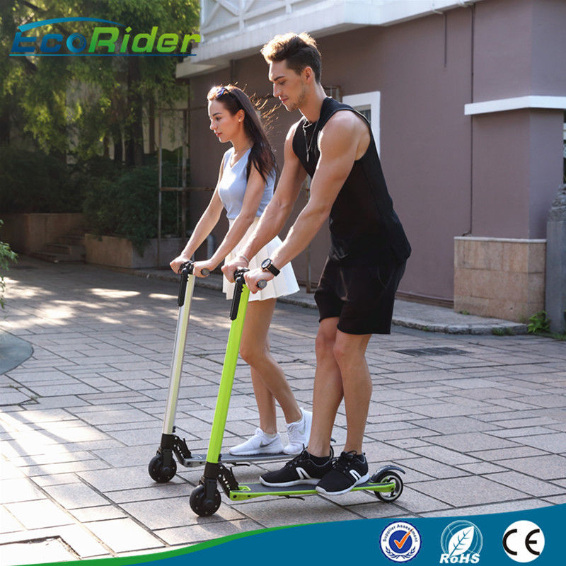 Carbon Foldable Electric Scooter with 350 Watt Brushless Motor , Electric Kick Scooter