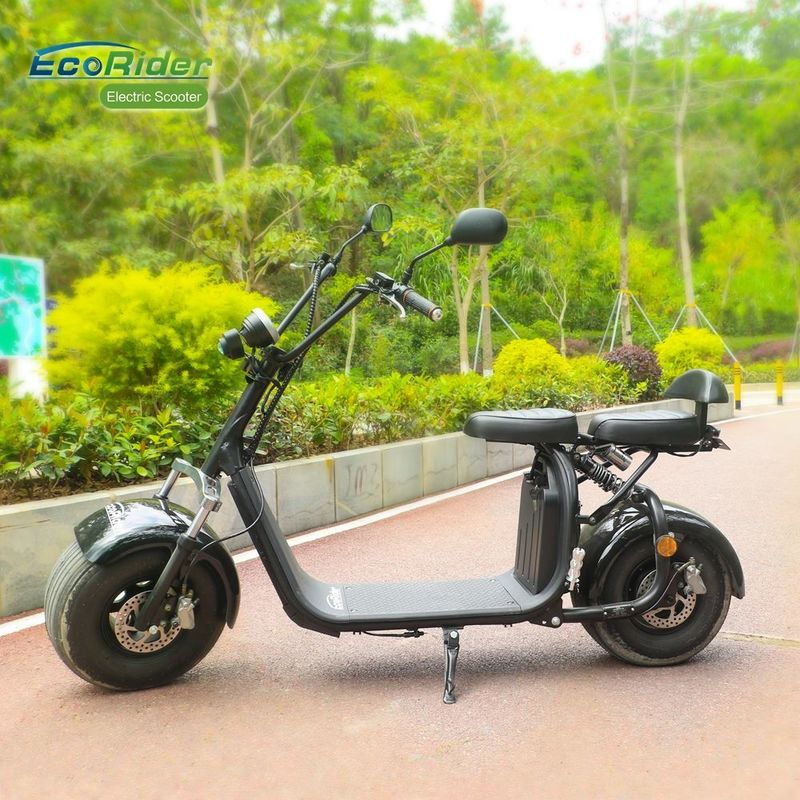 EEC 18 Inch Fat Tire Caiqiees Citycoco Electric Scooter With Round Lamp And Mirrors