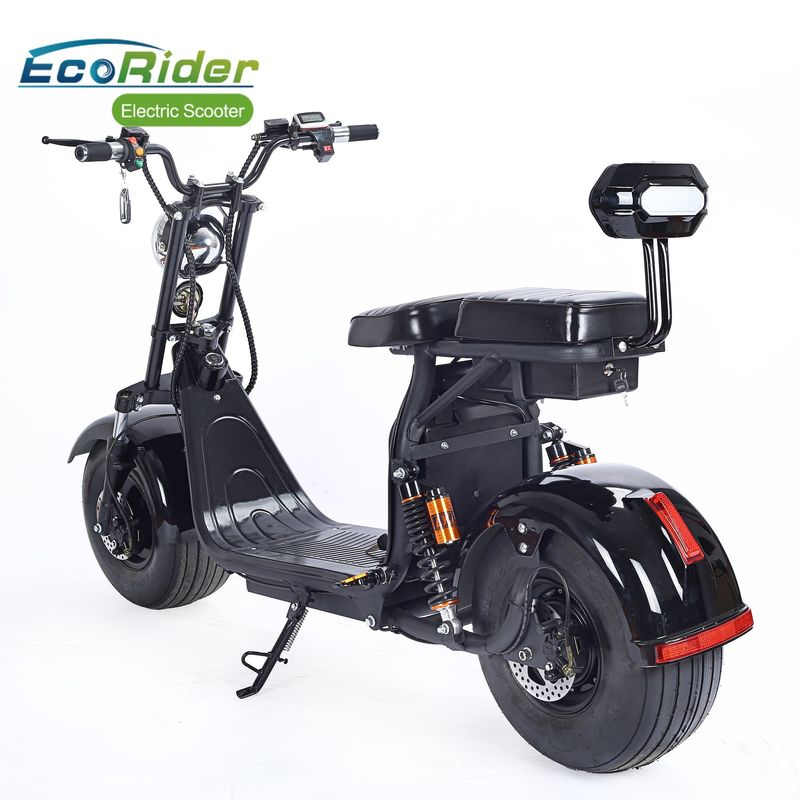 1000 W 2 Wheel Electric Scooter 12Ah 20Ah Double Rechargeable Battery